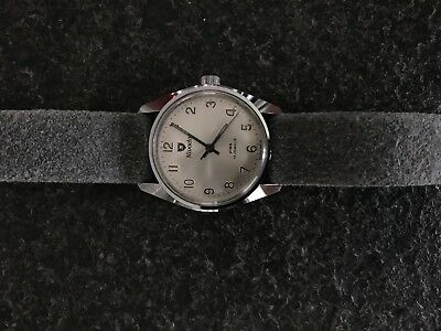 NIVADA WATCH UHR JUNGHANS GRAU GREY SWISS MADE 60s 17 Jewels