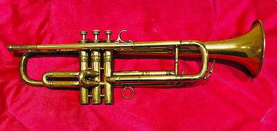 Vintage Selmer Trumpet in Raw Polished Brass-Overhauled. With Selmer 3.S 2 M/Pc.