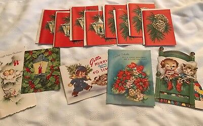 13 Vintage Christmas Cards Unwritten