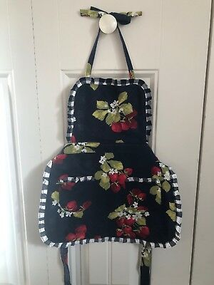 Janie Jack Strawberry Sweet Up To 3t Apron Euc