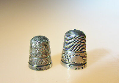 Solid silver thimbles