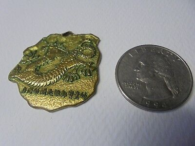 Vintage Brass or Bronze Asian Dragon Pendant