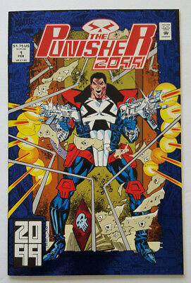 The Punisher 2099 #1 in NM- Cond. Foil Stamped Cover 1993 Marvel Comics