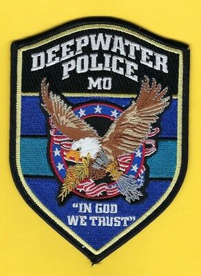 Deepwater Police Department Patch ~ Missouri ~ Beautiful Artwork With Eagle