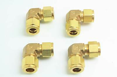 4 Neuf Parker 8EE8-B Brass Union Coude Raccords pour Tubes 1.3cm Fixations