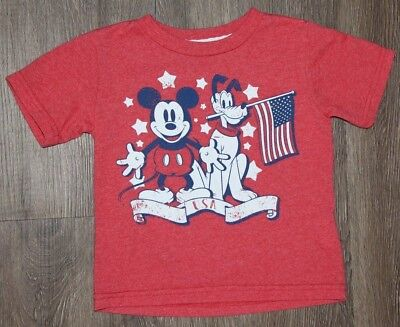 Disney Mickey and the Roadsters Toddler Boys Shirt America ~ Size 18 Months