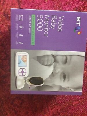 """BT Video Baby Monitor 5000 2.8"""" Display up to 250m Range with 5 Lullabies"""