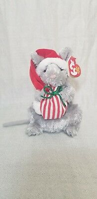 TY Beanie Baby - JINGLEMOUSE the Holiday Mouse - Pristine w/ Mint Tags - RETIRED
