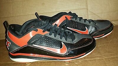 best website c9d16 d10be Nike Air Show Elite 2 BASEBALL Low Metal Cleats Men s Sz 12.5 Black Red  White