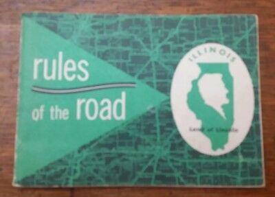 1954 Illinois Rules Of The Road Booklet (classic car show eye candy)