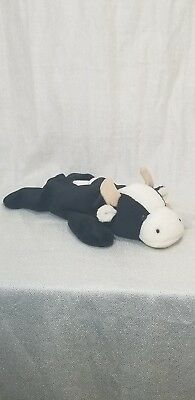 TY Beanie Baby - DAISY The Cow - RETIRED - P.V.C Pellets