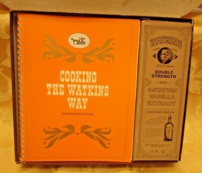Watkins Vanilla Extract Collector Bottle And Cooking The Watkins Way Cook Book