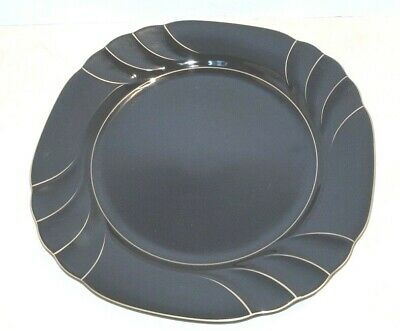 Gallery Collection Ranmaru Fine China - Salad/Luncheon Plate  Wave Black - Japan