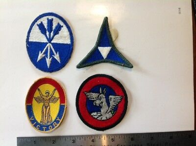 Lot of 4 Original WW2 US  Army Patches Victory Patch
