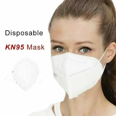 KN95 Disposable Protective Face Mask Respirator PM2.5 5Layer Breathable (10 PCS)