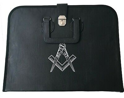 Masonic Regalia Case for master mason MM/WM Apron and Chain Collar with compass