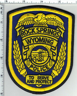 Rock Springs Police (Wyoming) Shoulder Patch from the 1980's