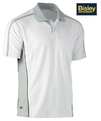 NEW! BISLEY Mens Contrast Painters Polo Short Sleeve BK1423 XS - 6XL