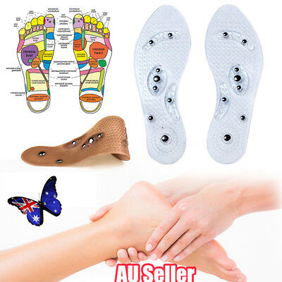 AU Acupressure Slimming Shoes Insole/ Pressure Points/Magnets Reflex Points Foot
