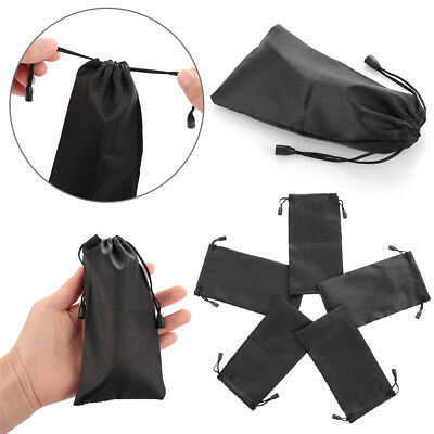 Soft Microfiber Pouch Bag For Sunglasses Eyeglasses Glasses W/Lanyard Cloth