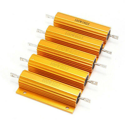 1-20 pcs 50/100W 0.01-5K Ohm Shell Power Aluminum Housed Case Wirewound Resistor