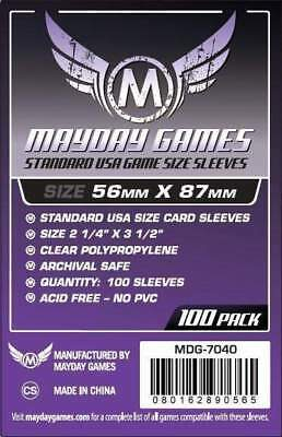 ULTRA PRO Standard American Board Game Card Sleeves Clear Size 56 x 87mm 50ct