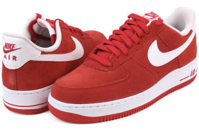 Nike Air Force 1 Ones 07 Shoes Men's New Valentines Red Size 10.5 315122 612