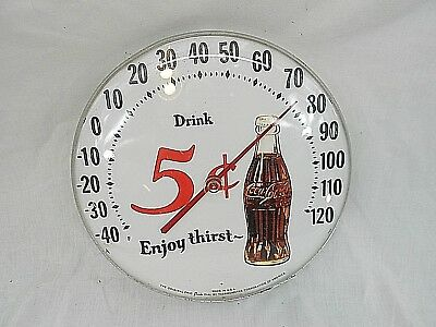 Original Ohio Jumbo Dial By Thermometer Corp Of America, Coca Cola, 1950's