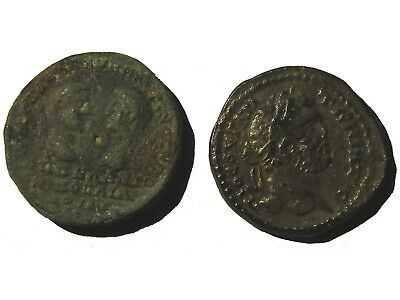 Lot Of 2 Ancient Roman Bronze Provincial Coins