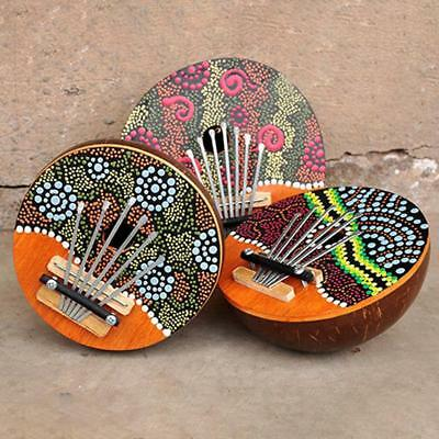 6 Key Kalimba Coconut Shell Finger Thumb Piano Africa Folk Musical Instrument UK