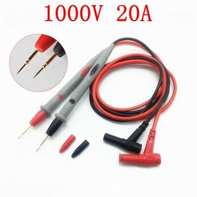 "Best Quality 1000V 20A Digital Multimeter Test Leads Probes Volt Meter 43"" Cable"