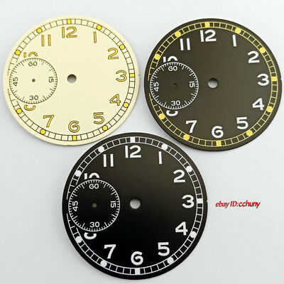 36.8mm Sterile Watch dial Fit ETA 6497 Seagull ST36 Movement