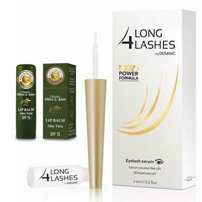 Long4lashes Wimpernserum Eyelash Serum 3ml + gratis Lippenbalsam Aloe Vera