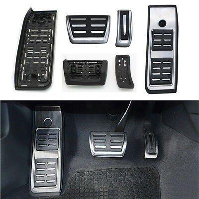 Fuel Gas Brake Footrest Pedal Pad No Drill Accelerator For Audi A4 B9 F5 2016-18