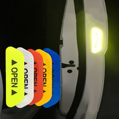4 Pcs Car Door Stickers Safety Reflective Tape Open Sign Warning Mark Universal