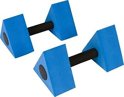 Triangular Aquatic Exercise Dumbells - Set of 2 - For Water Aerobics - By