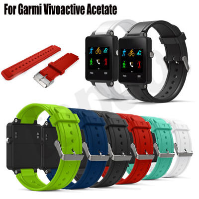 Sports Silicone Bracelet Strap Band Mesh Watchband For Garmin Vivoactive Acetate