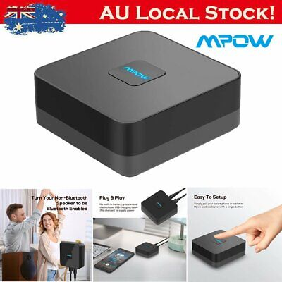 Mpow Wireless Bluetooth Audio Receiver Stereo HiFi Music Adapter Home RCA AUX AU