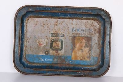 Vintage Old High And Dry Booths London Dry Ginlitho Print Serving Tin Tray 310