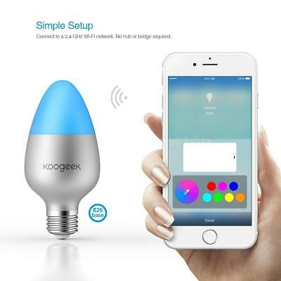 Koogeek Wi-Fi Enabled 8W Color Changing Dimmable Smart LED Light Bulb P0B4 F2W8