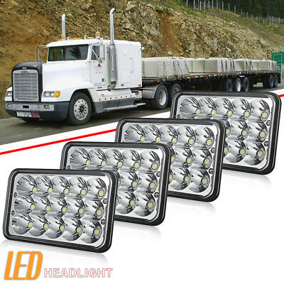 "DOT 4X6"" LED Headlights Hi/Lo Seal Light Bulbs Crystal Clear Sealed Beam Headlam"