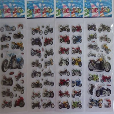 Motorcycle Stickers 10pcs/lot Children Boys  3D Cartoon  Christmas Gift Sticker