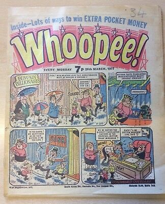 Whoopee! Comic 26 March 1977 Very Good Condition