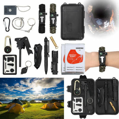 16 in 1 Outdoor Hiking Camping First Aid Survival Tool Rescue Gear Emergency Kit