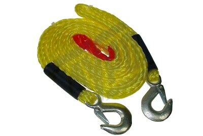4M Meters 4000Kg Tow Rope With Forged Hooks Breakdown Tow Strap Maypole Mp6097