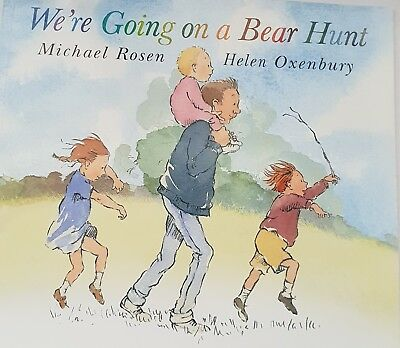 Story Book Children We're Going On A Bear Hunt Nursery Infant Home Library