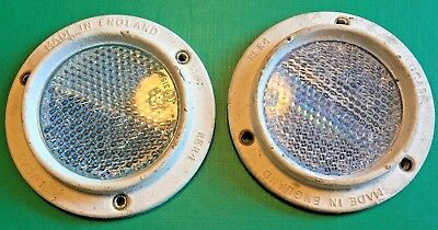 NOS Military Vehicle Land Rover Sankey Trailer Lucas White Side Reflectors RER4