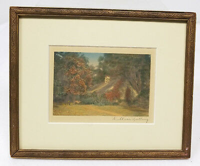 Antique Vintage Hand Signed Miniature Small Wallace Nutting Photograph