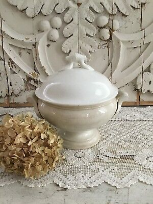 Antique French St Amand Stoneware Tureen