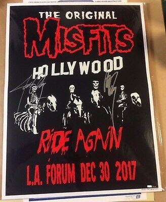 17 Misfits Los Angeles Forum Signed By Only & Danzig Concert Poster 12/30 #/1500